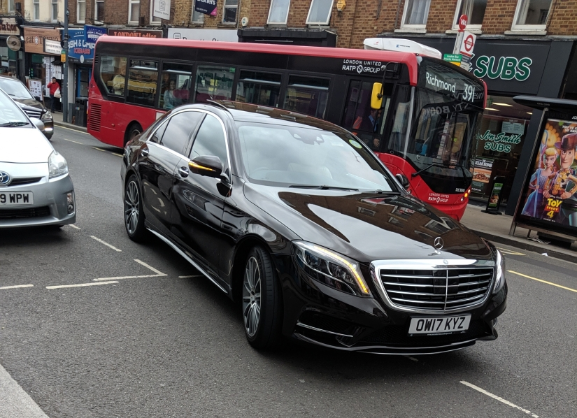 Black Mercedes E Class